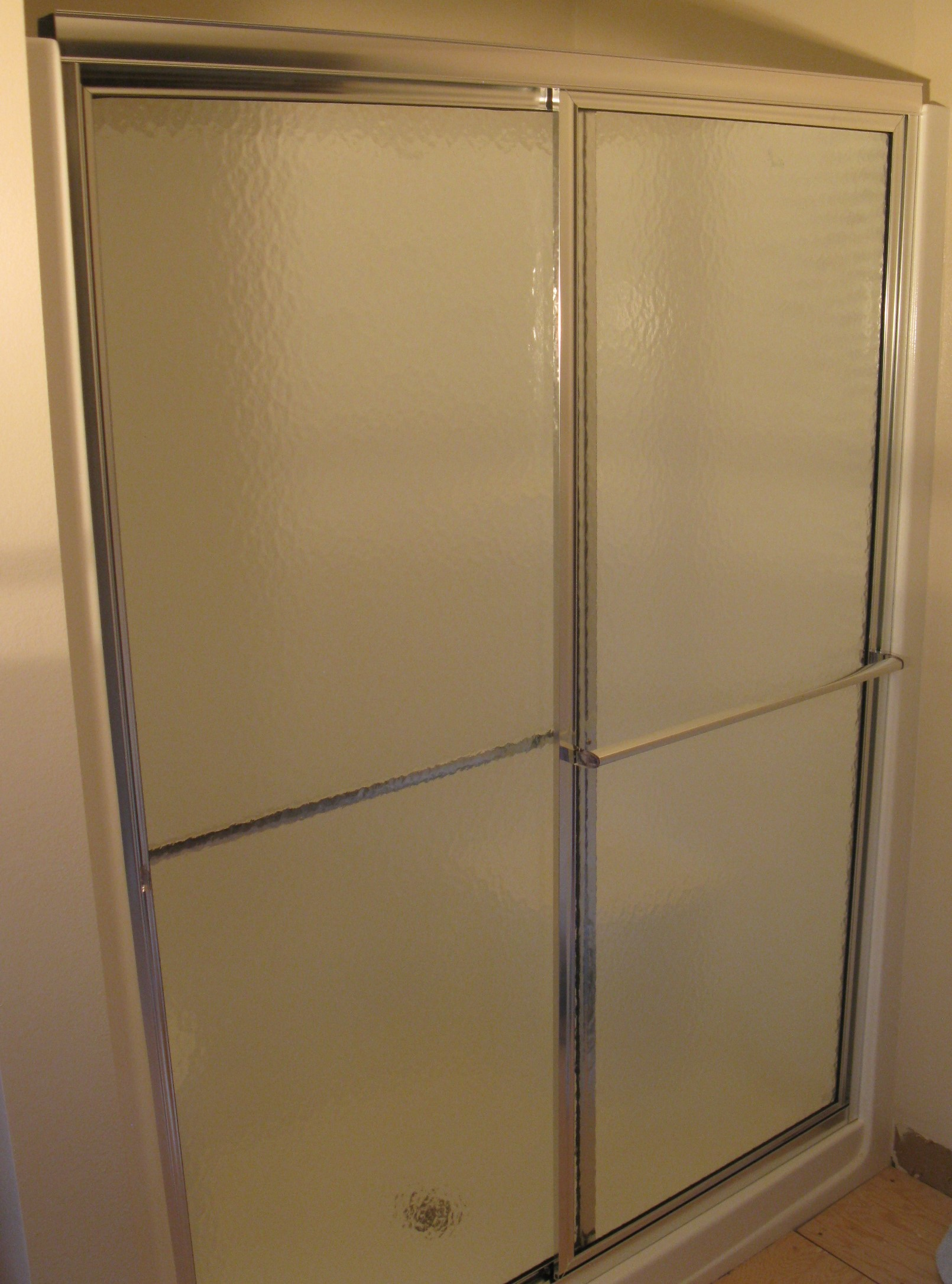 Bathroom Remodel - Replace Shower Doors - My Handy Family