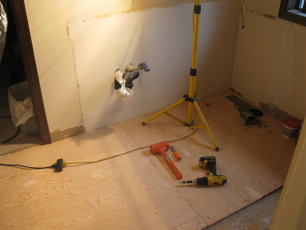how to replace linoleum floor in bathroom bathroom remodel replace vinyl flooring my handy family 26219