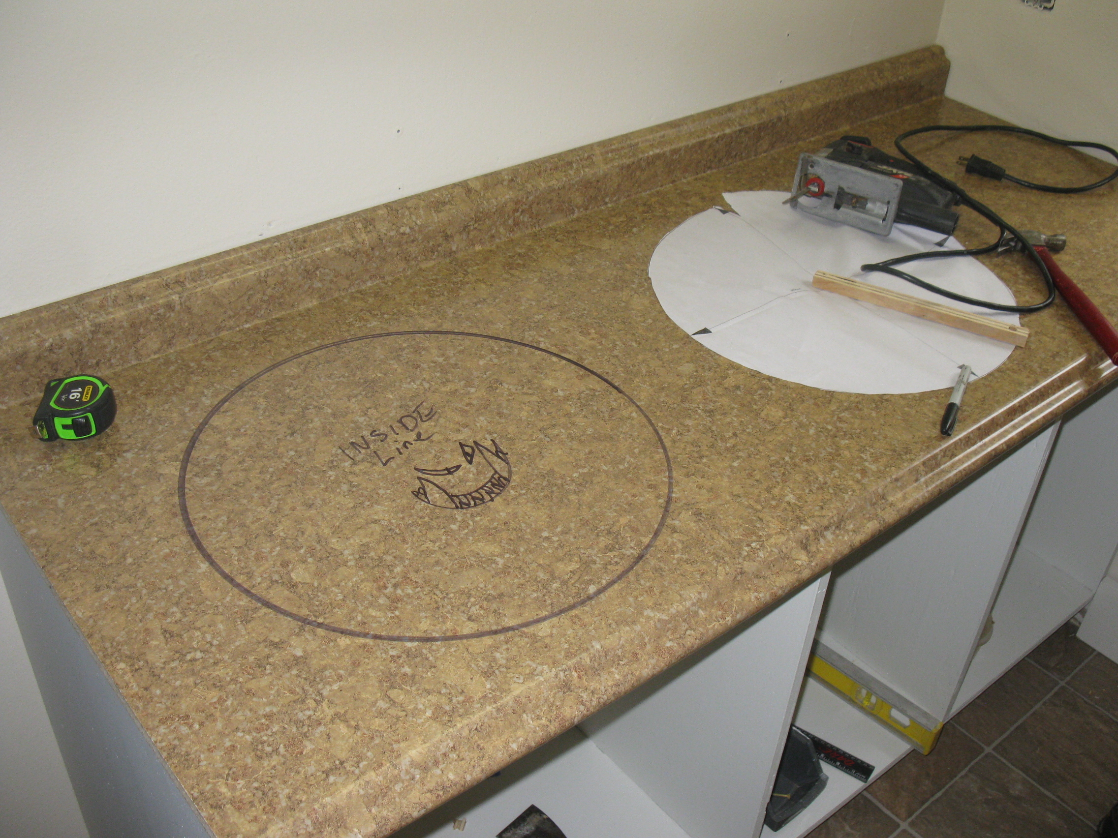 Counter Top On Cut Out For Sink