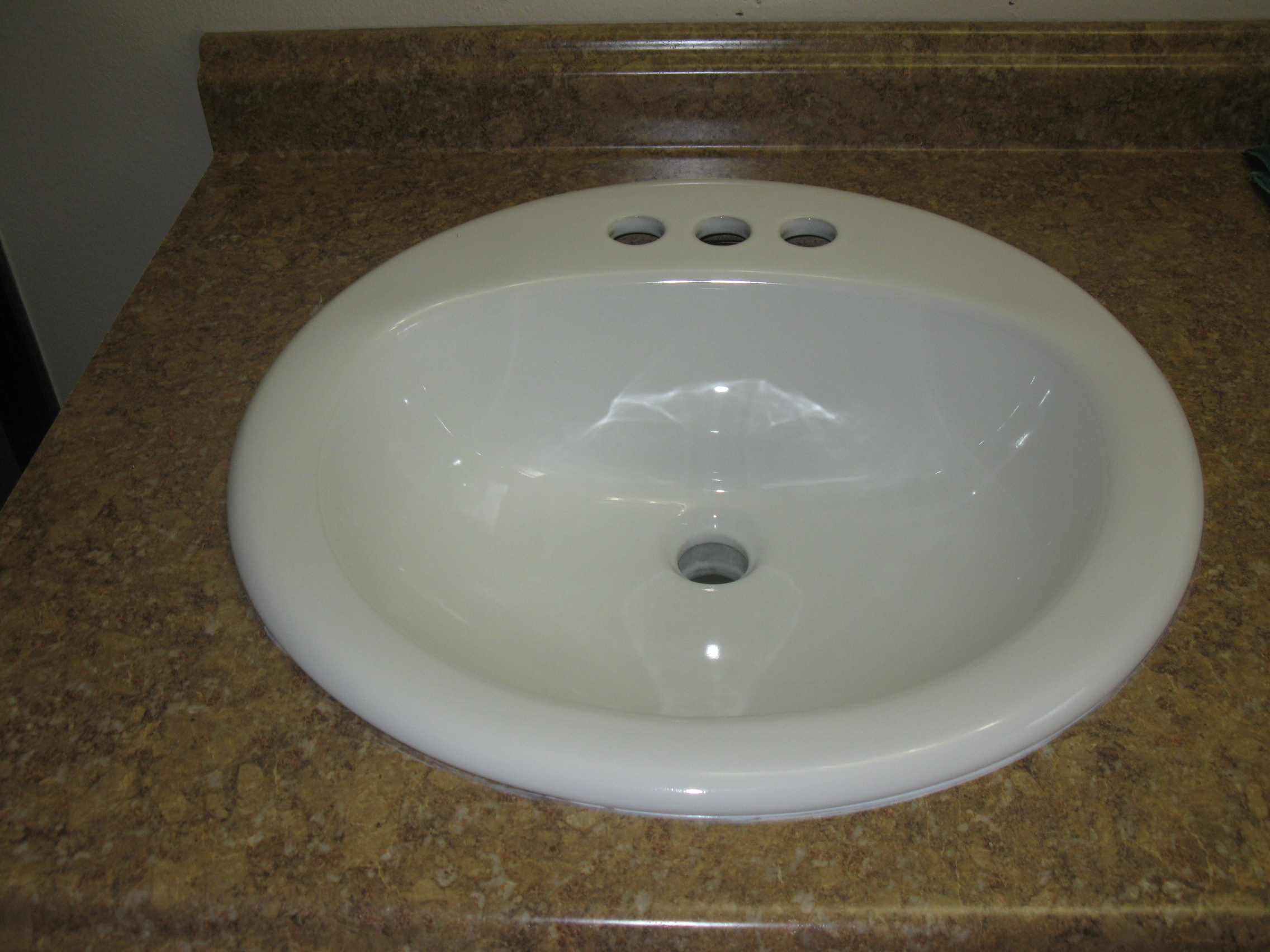 ... Faucet And Caulk Around Circle Base. Bathroom Remodel Sink And Cabinet  My Handy Family